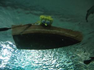 Spongebob in a boat